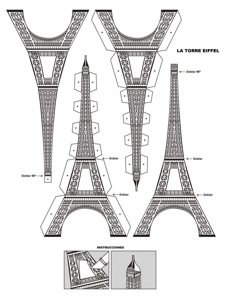 maqueta torre eiffel planos